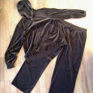 Made for Life Velvet Track Suit - 1X